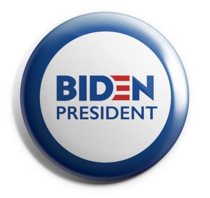 Biden 2020 Red, White & Blue Campaign Button (BIDEN-605)
