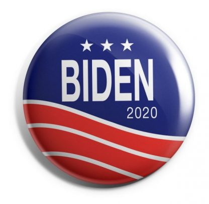 Biden 2020 Red, White & Blue Campaign Button (BIDEN-601)