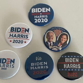 Biden/Harris 2020 (Set of 6 Buttons) - Joe Biden & Kamala Harris 2020 (2.25 inches)