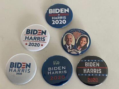 Biden/Harris 2020 (Set of 6 Buttons) - Joe Biden & Kamala Harris 2020 (2.25 inches)