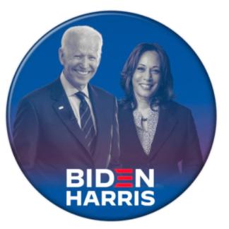 Blue Biden Harris 2020 Pin