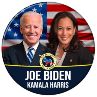 Biden + Harris with flag