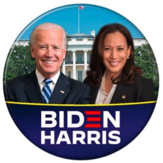Joe Biden + Kamala Harris with white house